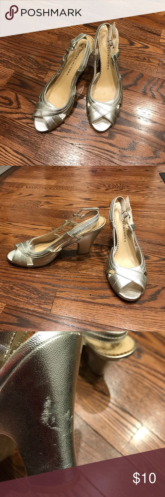 Chinese Laundry silver heels (4 inches) size 9 Chinese Laundry silver heels (4