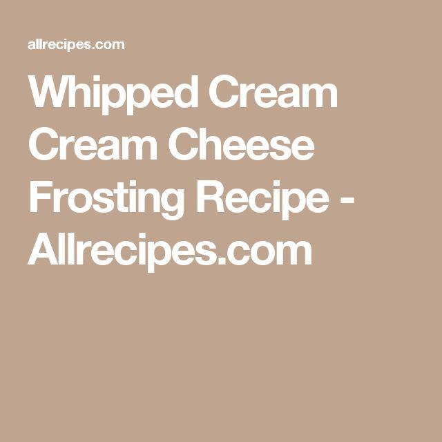 Whipped Cream Cream Cheese Frosting Recipe - Allrecipes.com