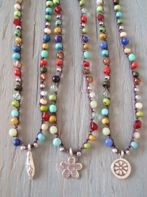 Lovely, lovely, lovely! Colorful crochet necklace 'Lucky Charms Multi ' by slashKnots, $52.00
