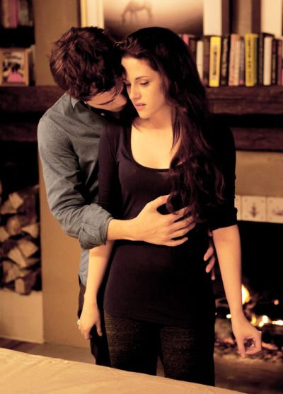 Tumblr New/Old Edward and Bella still from Breaking Dawn 2