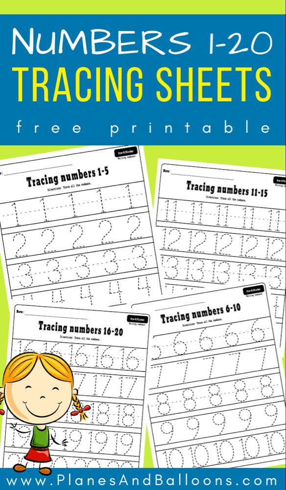 Numbers 1 20 Tracing Worksheets With Images Math Activities
