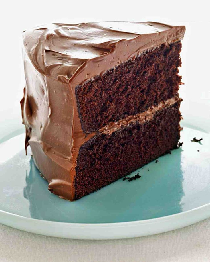 watching martha bakes! this looks amazing - Devil's Food Cake with Milk Chocolate Frosting