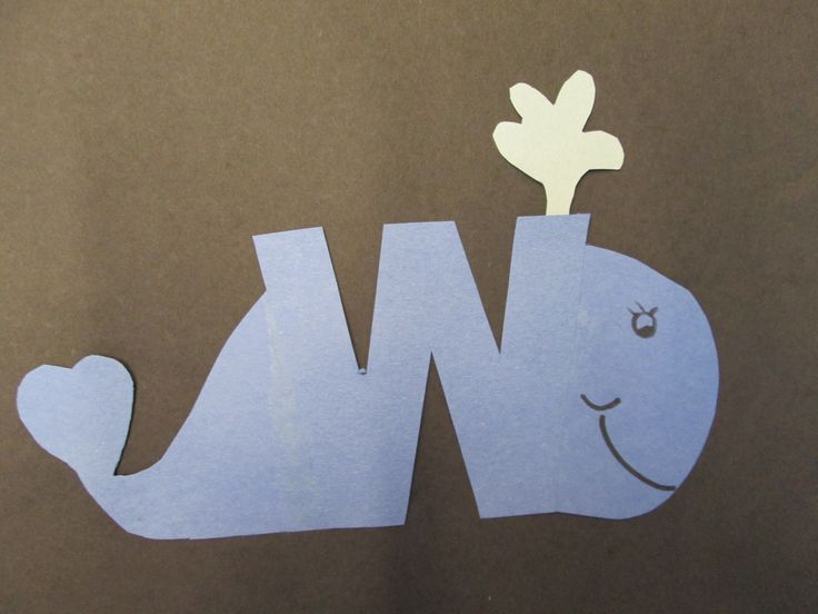 Letter W craft - Whale, a library passive program to build early literacy skills.