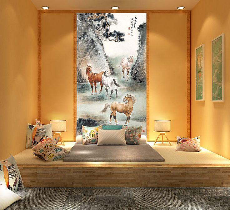 12 best Tapisserie zen japonais images on Pinterest - couleur chaude pour une chambre