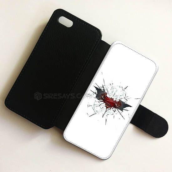 Cracked Glass Batman Superman wallet case, Wallet Phone Case     Get it here ---> https://siresays.com/Customize-Phone-Cases/cracked-glass-batman-superman-wallet-case-wallet-phone-case-iphone-6-plus-wallet-iphone-cases-wallet-samsung-cases-ipad-mini-cases-for-kids/