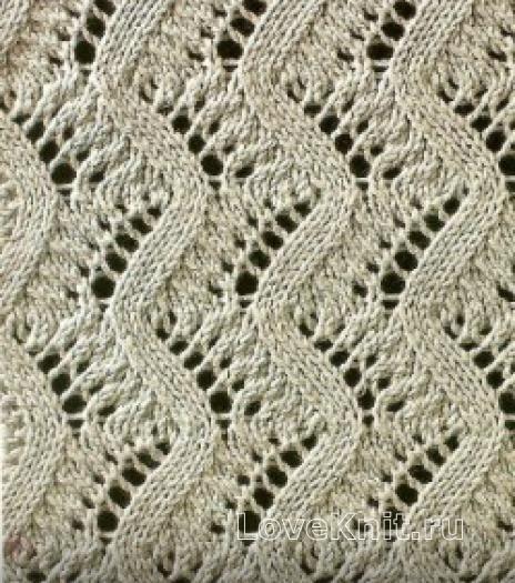 Вязание спицами узор ажурный №1643 схема