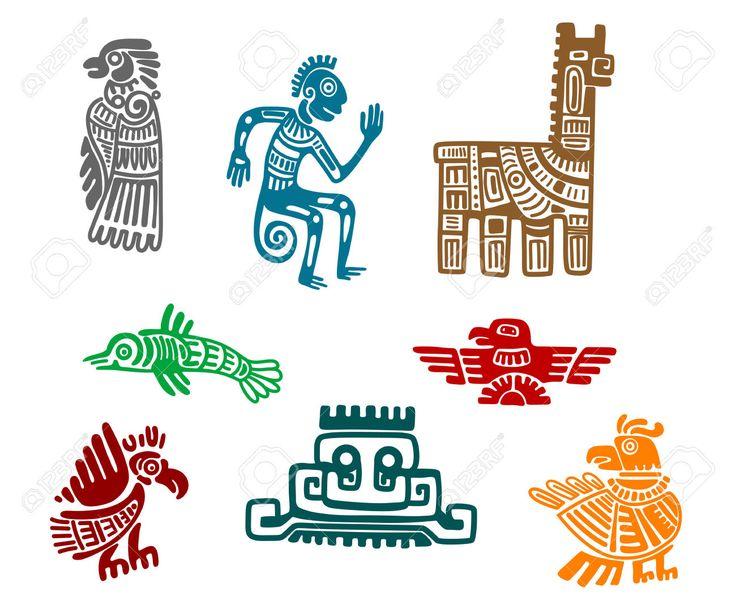 Resultado de imagen de dibujos aztecas mayas e incas