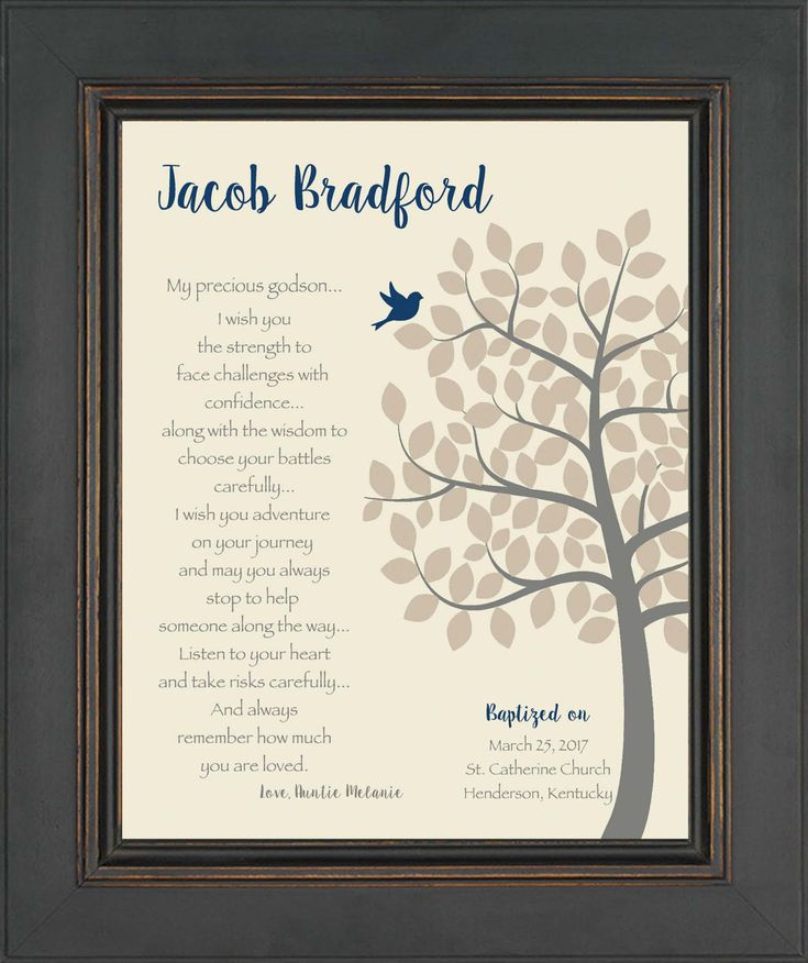 BAPTISM Gift for Godchild - Personalized Christening or Dedication Gift - Gift for Godson - 8x10 Print - Gift from Godparents- other colors by KreationsbyMarilyn on Etsy