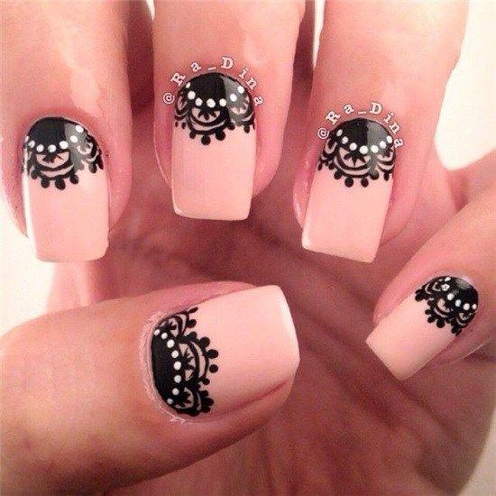 25+ gorgeous Lace nail art ideas on Pinterest | Lace nail ...