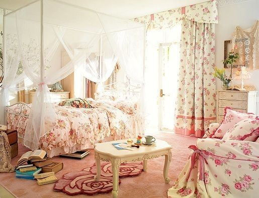 floral: Kids Furniture, Shabby Chic, Dreams Rooms, Girls Bedroom, Canopies Beds, Floral Bedrooms, Pink Bedrooms, Princesses Bedrooms, Girls Rooms