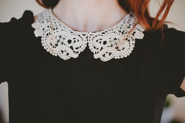 Crocheted lace collar <3 | vanilla & lace