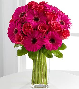 Gerberas with Roses. How Happy!