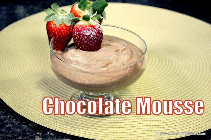 Chocolate Mousse - Special Valentine's Day Recipe More