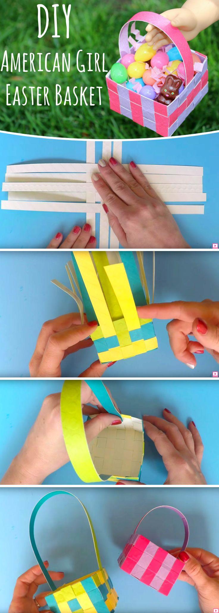 How to Make DIY Doll Easter Baskets #diy #doll #easter #basket #ideas #