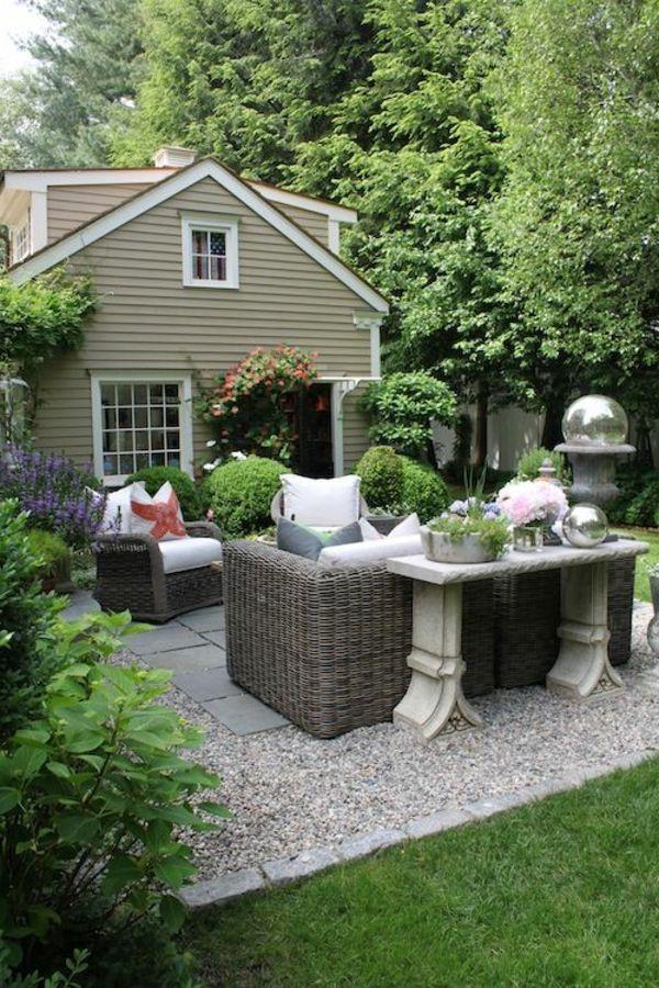Gartengestaltung Mit Kies Und Steinen 25 Gartenideen Fur Sie Design Garten Gartengestaltung Garten Terrasse Garten Ideen