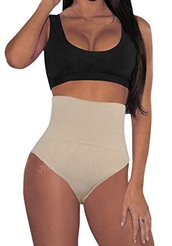 76041c434a JITIFI Women Waist Cincher Girdle Control Panties Tummy Slimming Butt  Lifter Sexy Thong  swimwear
