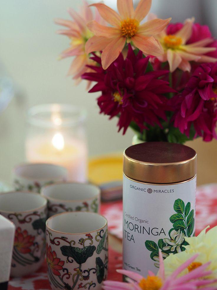 Certified organic moringa and green tea at OM Cleanse retreat
