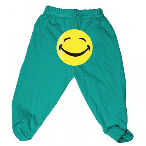 Pantaloni cu botosei sau fara pentru bebe sau copii mici cu un Smiley desenat pe…