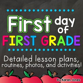 What do I do on the first day of First Grade? Whether it's our first or fifteenth time, we ask ourselves this question every year! After many years of tweaking my own first day plans, I have put together this easy-to-use pack of detailed lesson plans and activities that are suitable for the first day of First Grade. Included you will find 100% editable lesson plans, photos from my classroom, printable lists of routines and procedures to teach in the beginning of the year, and more.