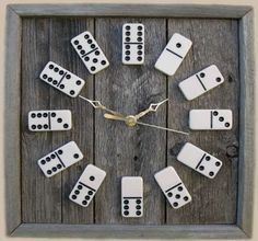 Funky domino wall clock. www.trendhunter.com via pinterest