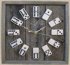 Funky domino wall clock. www.trendhunter.com via pinterest