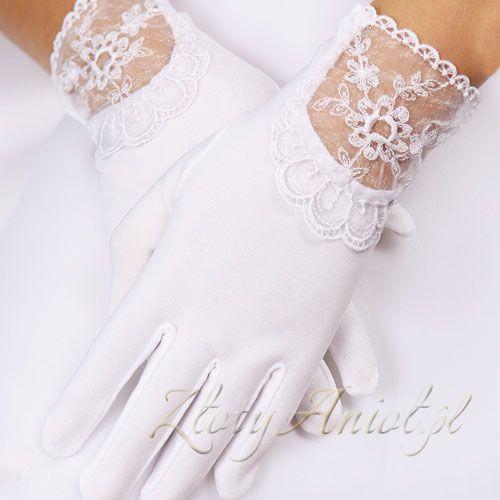 śliczne, eleganckie rękawiczki z koronką