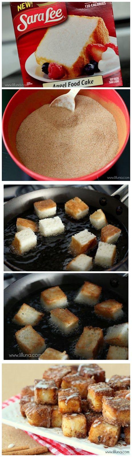 GuideKitchen: Angel Food Cake Churro Bites