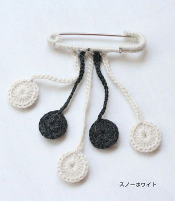 crochet pin brooch