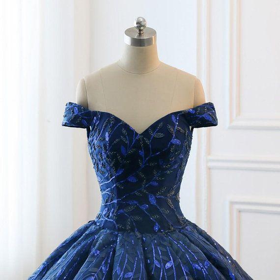1e56c261500 High Quality 2018 Modest Prom Dresses Ombre Royal Blue Wedding ...