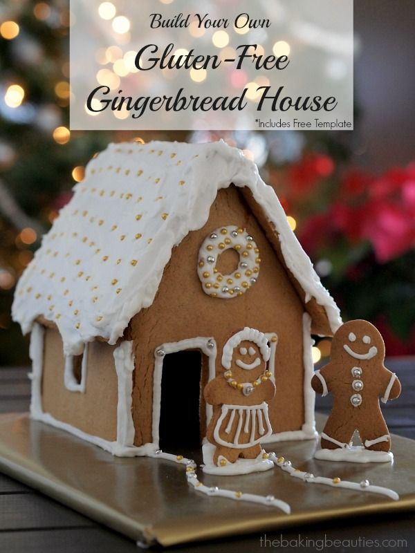 Build Your Own Gluten Free, Dairy Free Gingerbread House from Faithfully Gluten Free (includes a free template!)