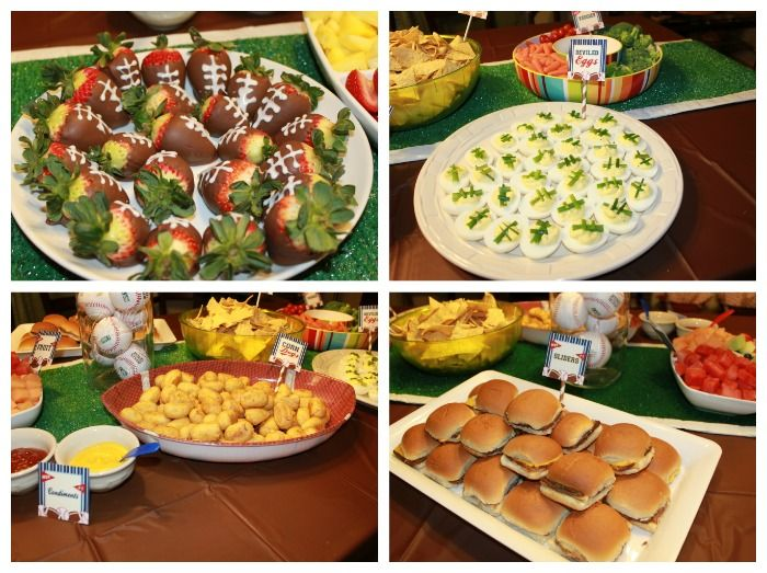 sports theme for baby shower | sports baby shower food - Dimple Prints