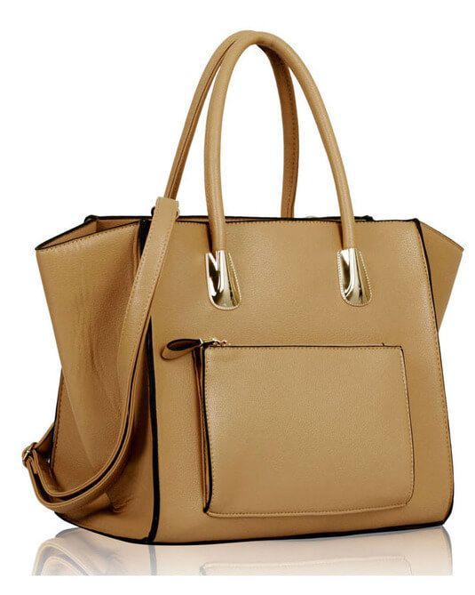 Beige Front Pocket Tote Handbag For Ladies Online in Pakistan  ToteBags   ShoulderBags  Fashion  OnlineShopping 179fea33fa