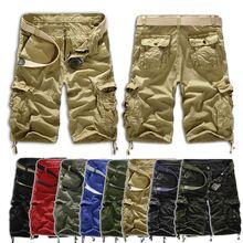 Yaz Rahat Erkekler Camoflage önlüğü genel Mat için şort kot Cepler kısa Pantolon adam Plaj yarım askeri ordu kargo şort