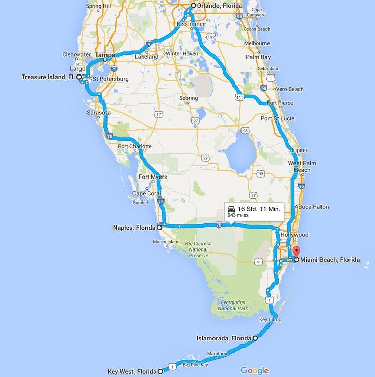 Auf der Suche nach einer Reiseroute für FLORIDA? Hier haben wir Euch eine kurze Rundreise (Route) zusammengestellt.