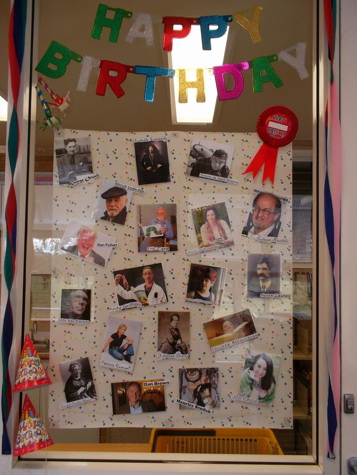 Author birthdays (library display) | Capturing the fun in my library
