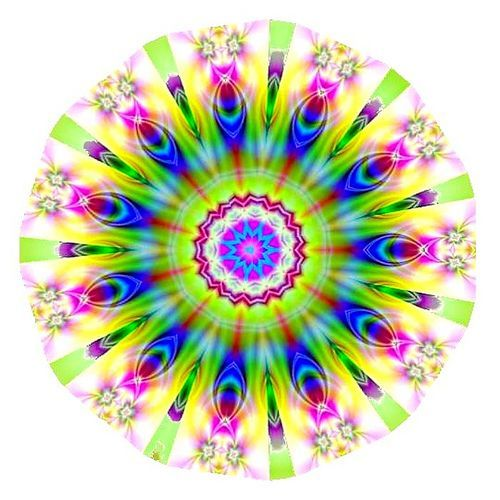 https://flic.kr/p/4A9Q6e | Tulip Kaleidoscope | Kaleidscope created in GIMP. Original image was a personal photograph of a vase filled with Spring tulips.