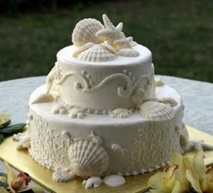 beach theme wedding cakes image