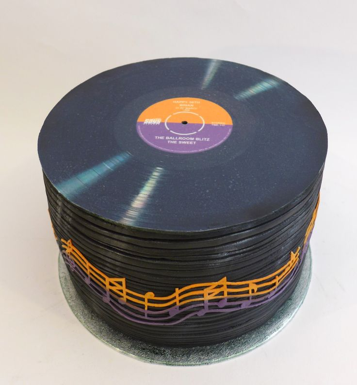 Stack of vinyl records 50th Birthday cake. Celebration | Cemlyn Cakes | Portishead | Church Stretton