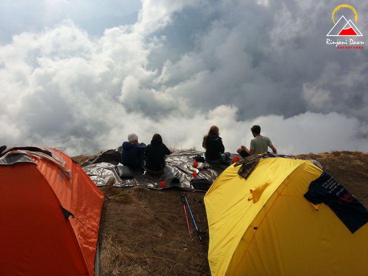 Camping on the crater rim (Plawangan Sembalun)