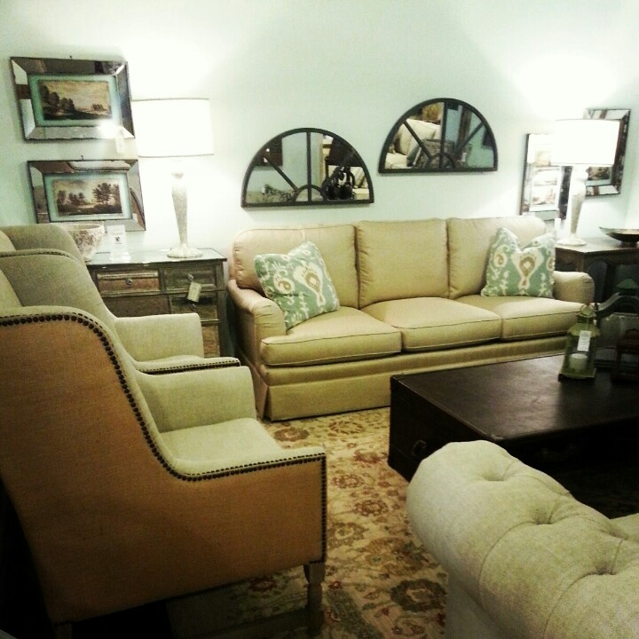 Furniture From Currations And Sherrill Combine To Make A Peaceful Living  Room Retreat · LouisianaVignettes