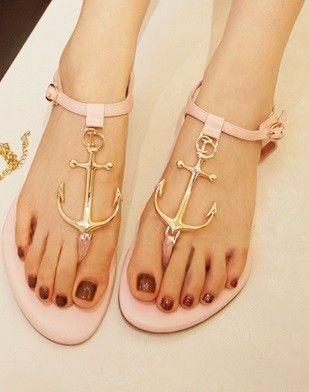 Morpheus Boutique  - Pink Mental Strap Flat Lady Sandals Shoes