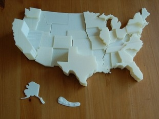 United States Electoral Vote Map by TheNewHobbyist - Thingiverse Great #3DP project for #Classroom