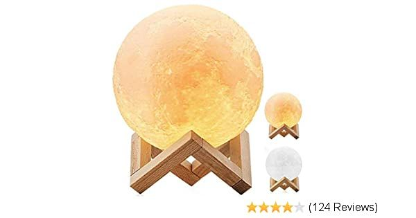 Desabf Full Moon Lamp 3d Led Night Modern Floor Lamp Dimmable Touch Control Brigntness Usb Charging White Warm Light Luna Mo In 2020 Modern Floor Lamps Warm Light Lamp