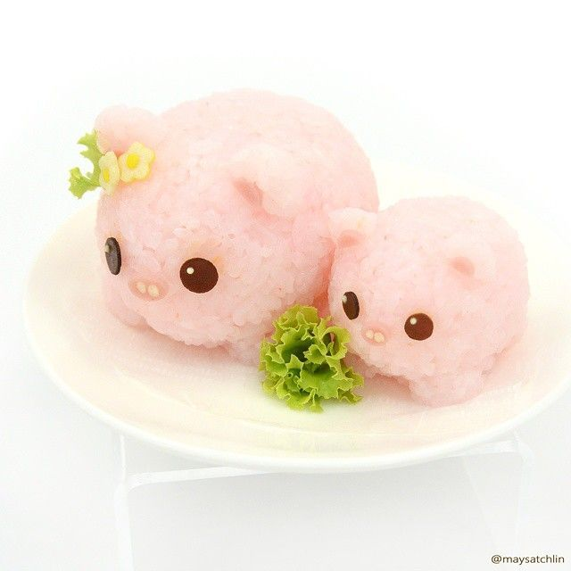 Piggy bento. Kawaii food art Anything piggie related - from pig products to animal photos! I like pigs
