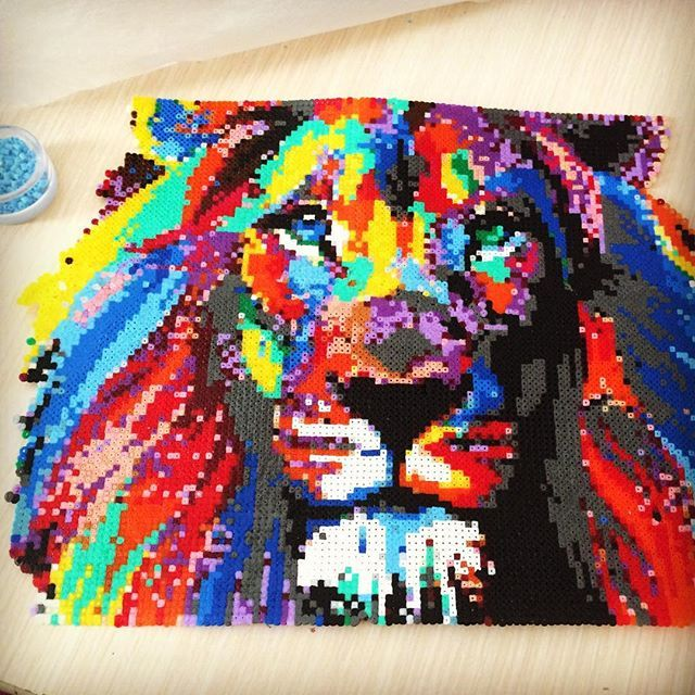 17 best images about perles on pinterest perler bead - Hama beads cuadros ...