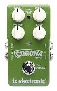 Corona Chorus - TonePrint Enabled Chorus Pedal | TC Electronic - A modern take on our renowned SCF chorus pedal and including a sweet Tri-Chorus setting, Corona Chorus combines a blast from the past with superbly shimmering sounds and features.