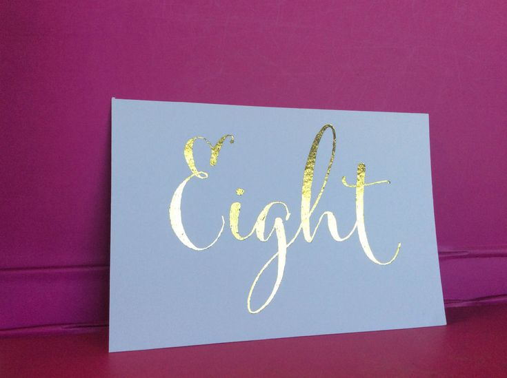 Kraft+White+Table+Numbers+1+to+10+Wedding+Birthday+Party+Table+Decor+Gold+Foil