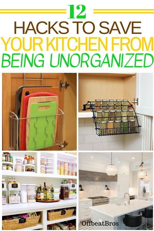 13 Clever Kitchen Organization Ideas (With images) | Kitchen hacks ...