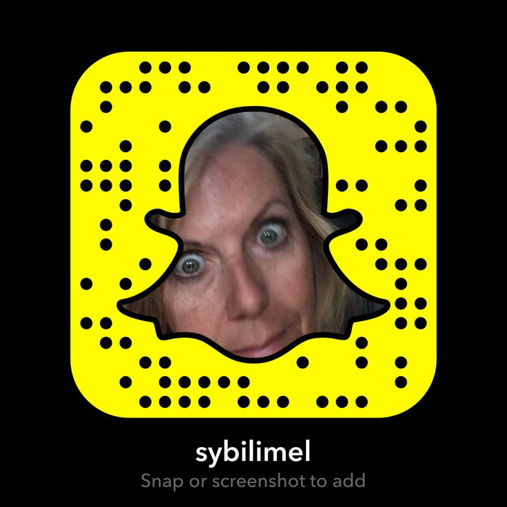 Are you on Snapchat?  Follow me!  My username is sybilimel or you can log into snapchat and use my snap code