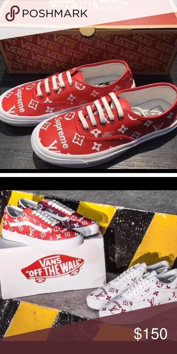 Custom Sup LV Vans Custom sup LV Vans originally made by chadcantcolor. The smaller the size the less it costs. Before you buy comment the color and whether you want the old skool model or flat Vans Shoes Sneakers